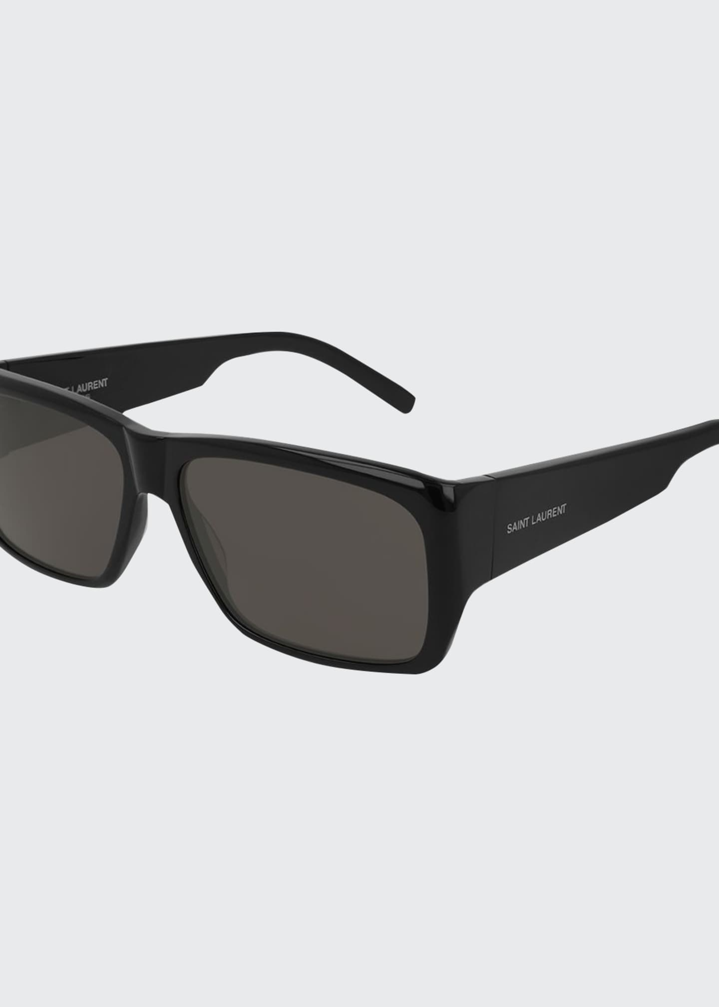 Image 1 of 1: Unisex Lenny Solid Acetate Rectangle Sunglasses