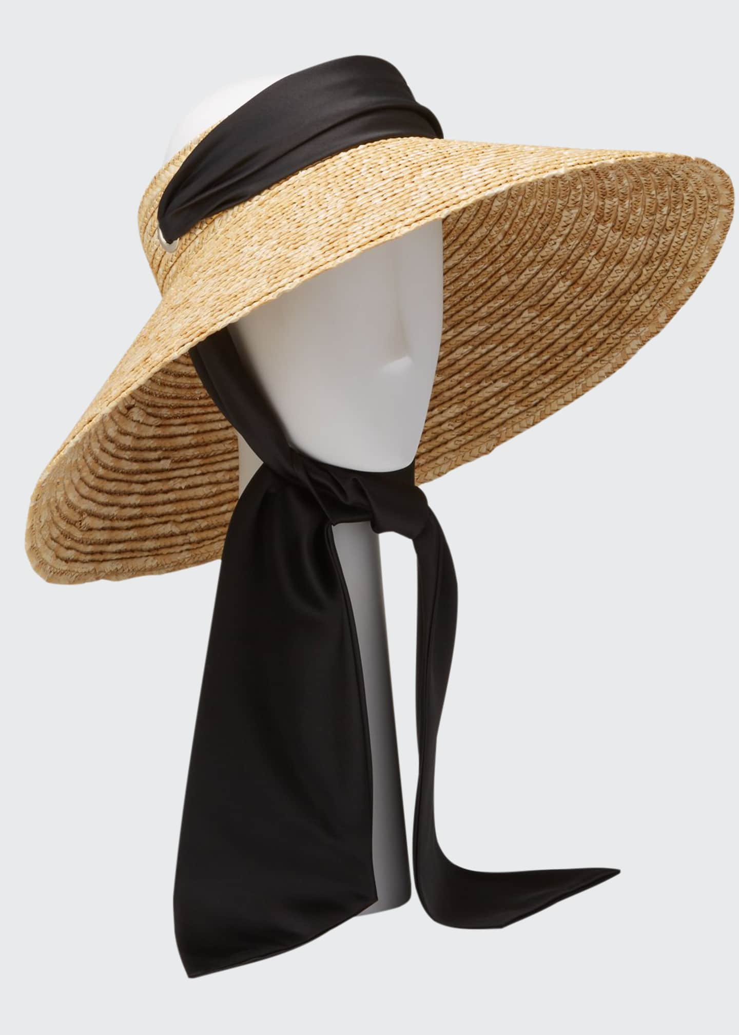 Image 1 of 1: Arabella Oversized Straw Visor