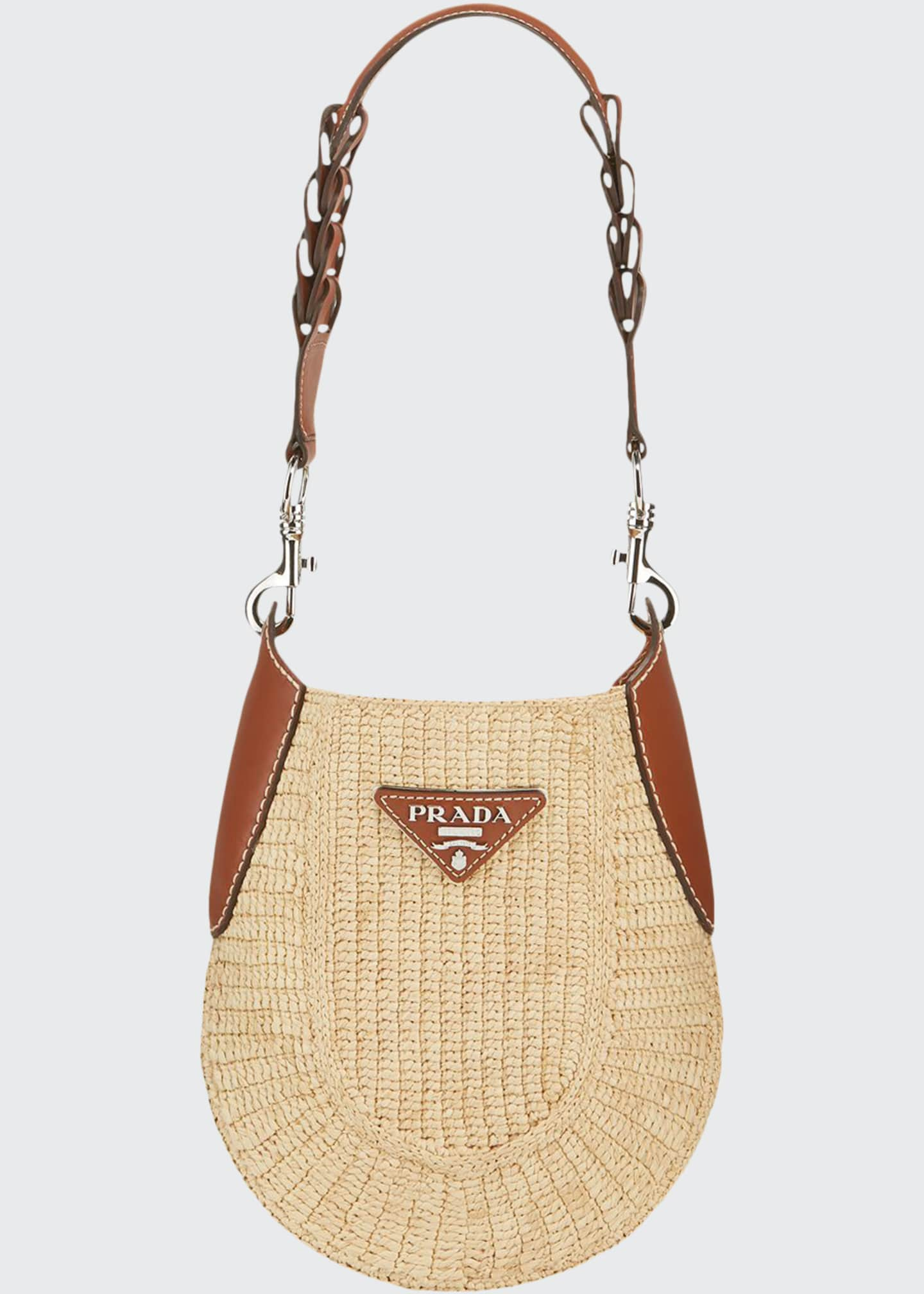 Image 1 of 4: Small Raffia Hobo Bag