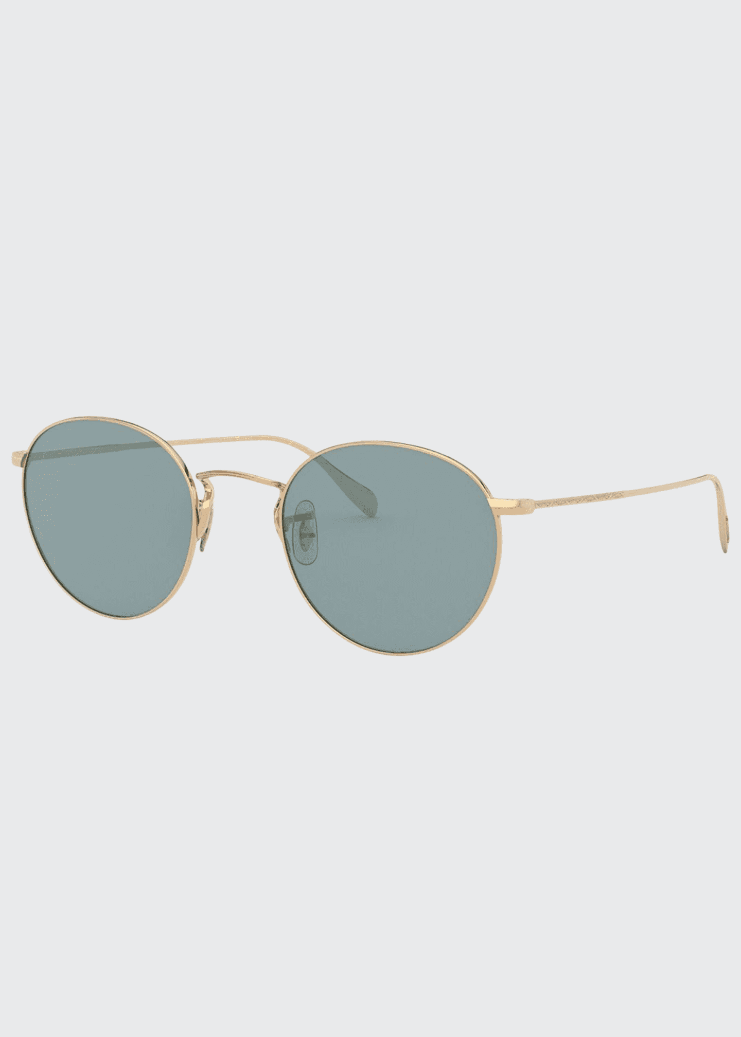 Image 1 of 2: Men's Coleridge Round Metal Aviator Sunglasses