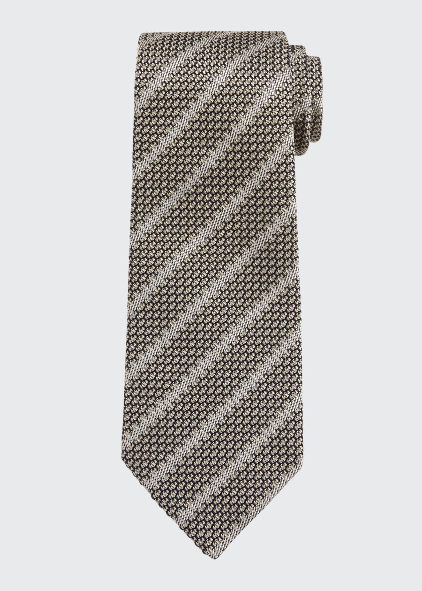 Image 1 of 1: Small Striped Silk Tie