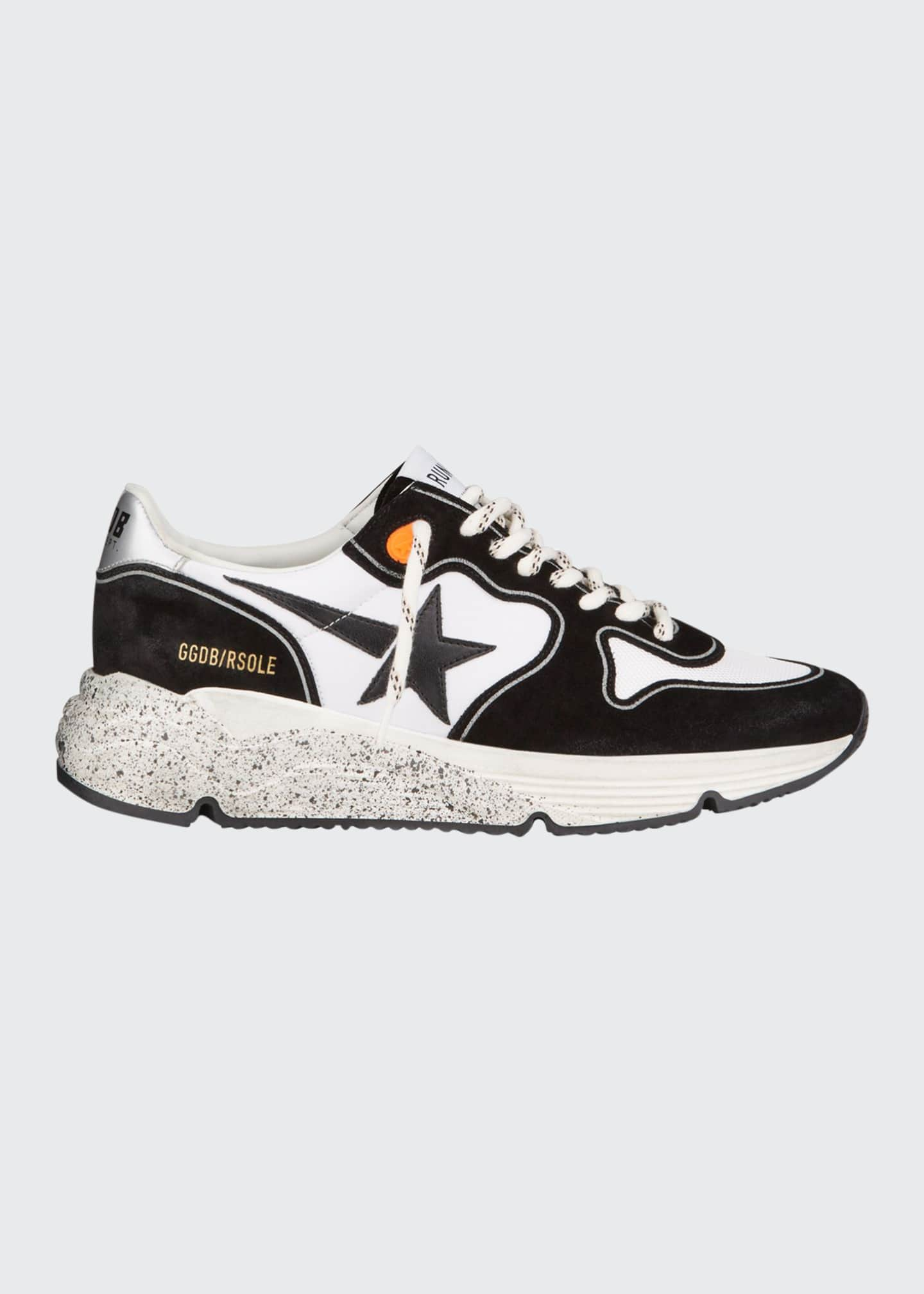 Image 1 of 4: Men's Two-Tone Speckled Star Runner Sneakers