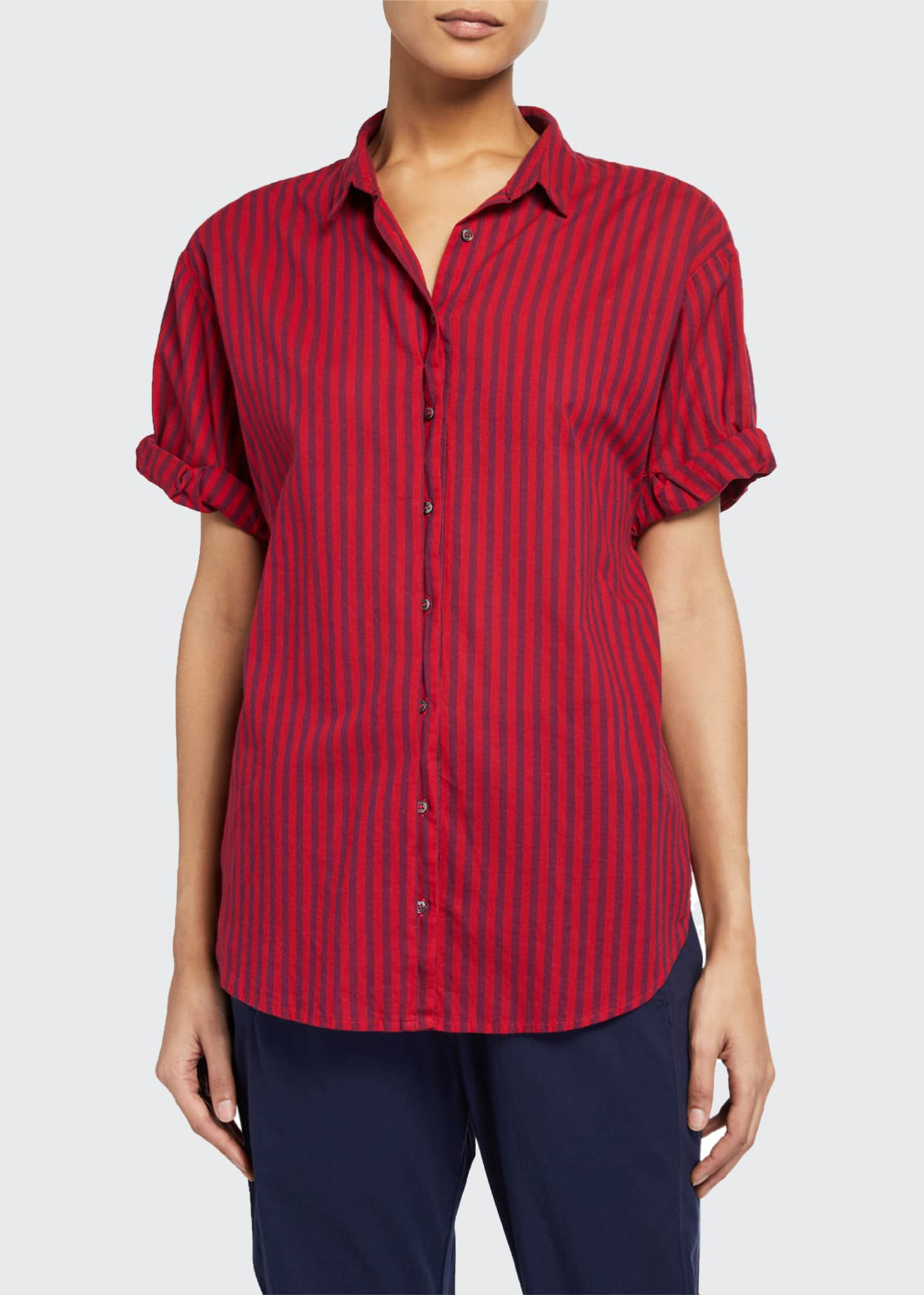 Image 1 of 2: Channing Stripe Lounge Shirt