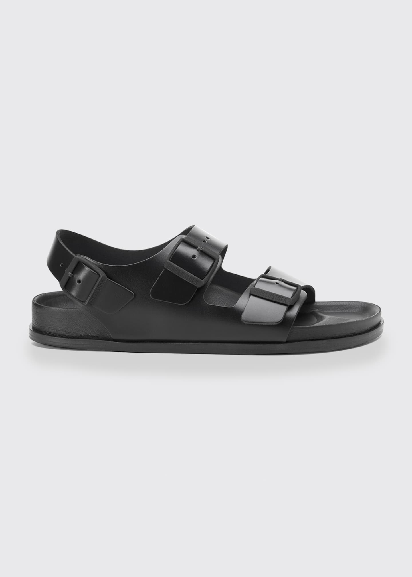 Image 1 of 1: Milano Double Buckle Leather Sandals