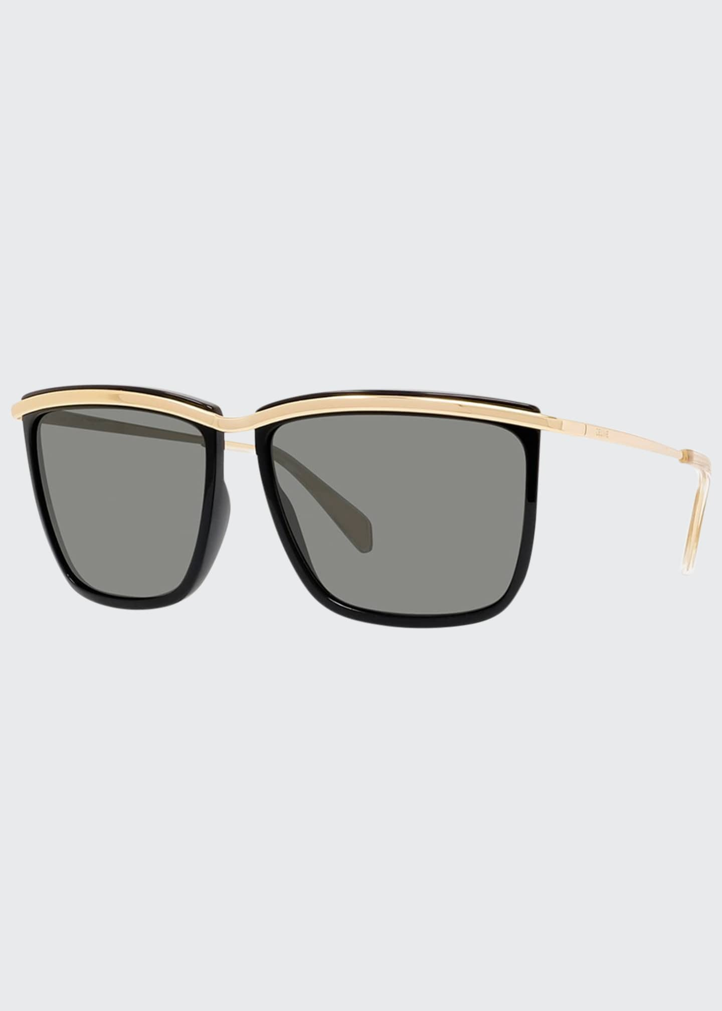 Image 1 of 3: Men's Two-Tone Square Metal Sunglasses