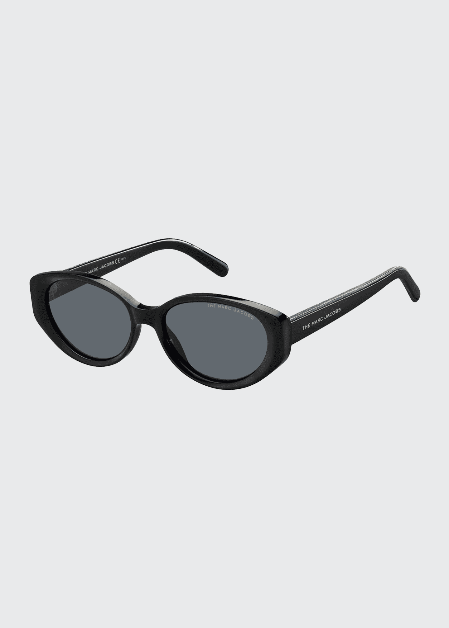 Image 1 of 1: Oval Acetate Sunglasses