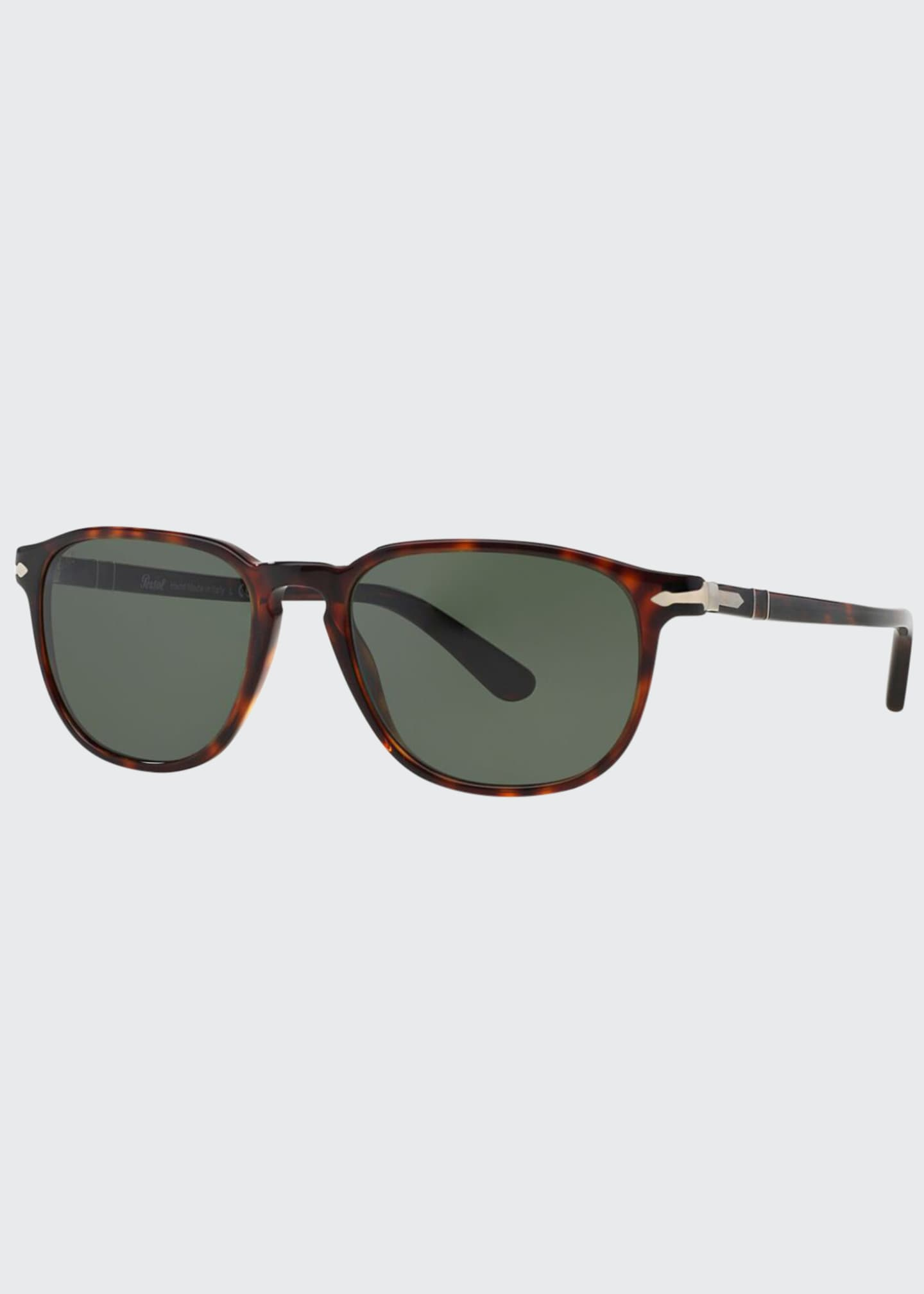 Image 1 of 2: Men's Square Patterned Acetate Sunglasses