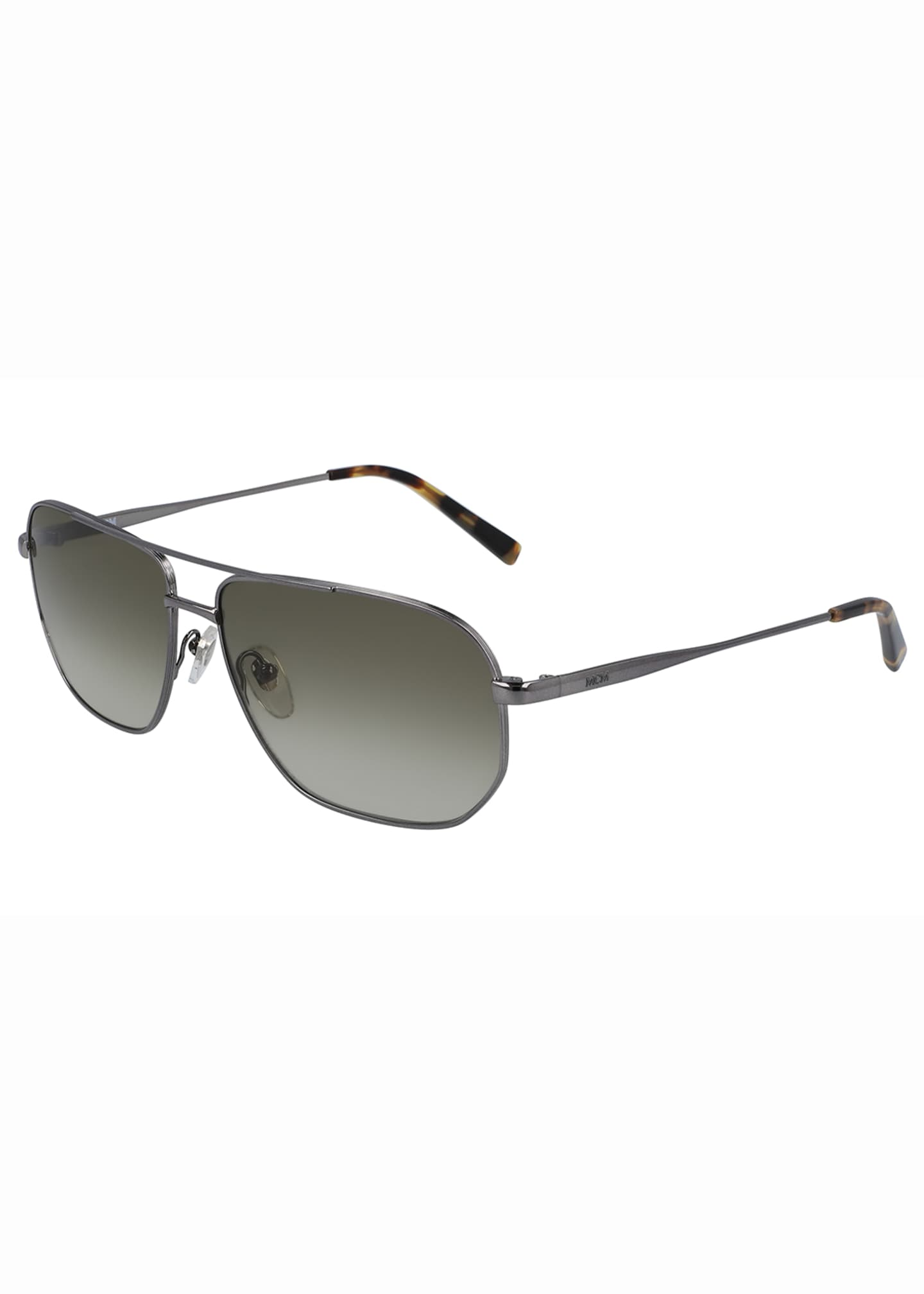 Image 1 of 1: Men's Simple Logo Gradient Navigator Sunglasses
