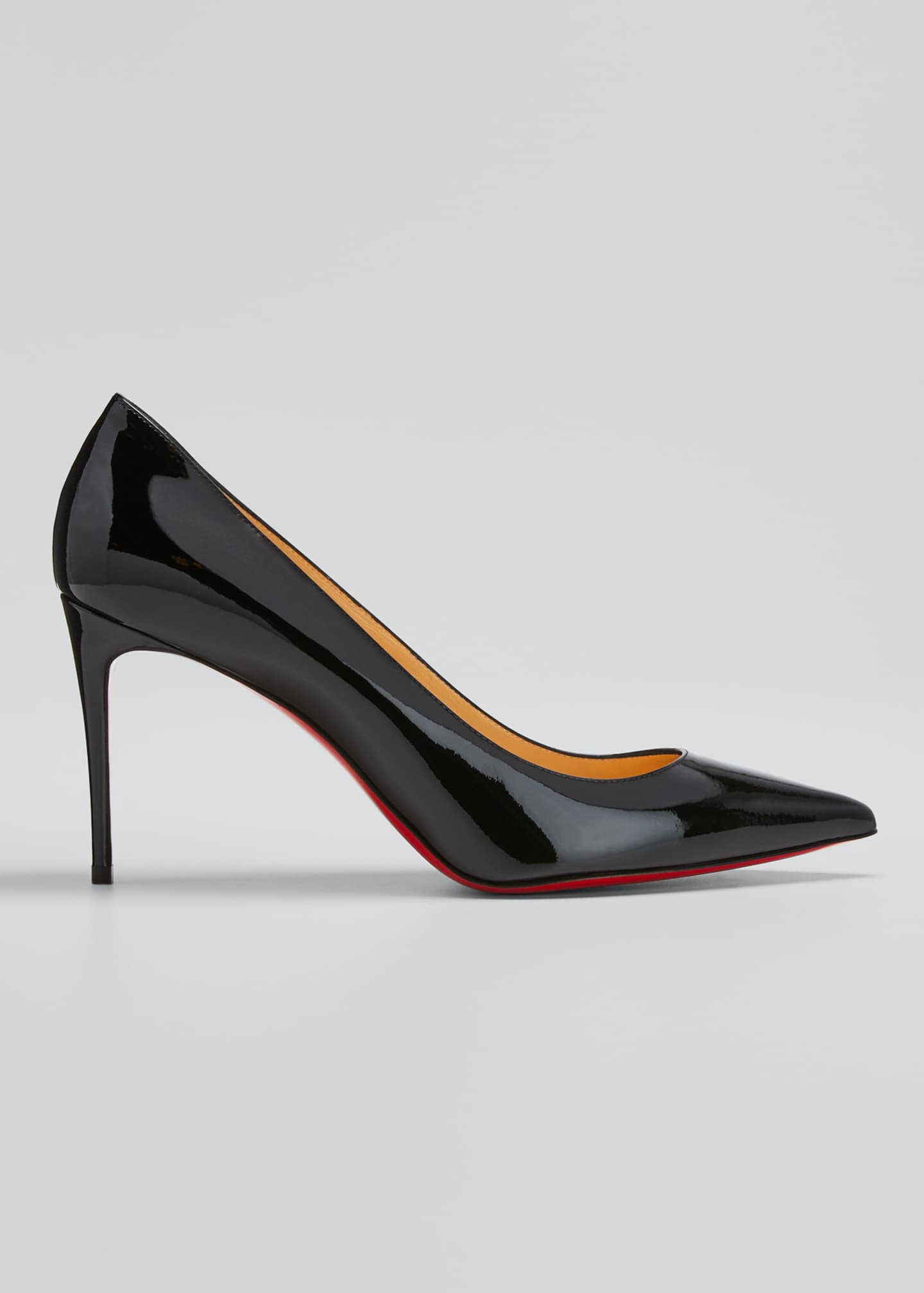 Image 1 of 5: Decollete 85mm Patent Leather Red Sole Pump