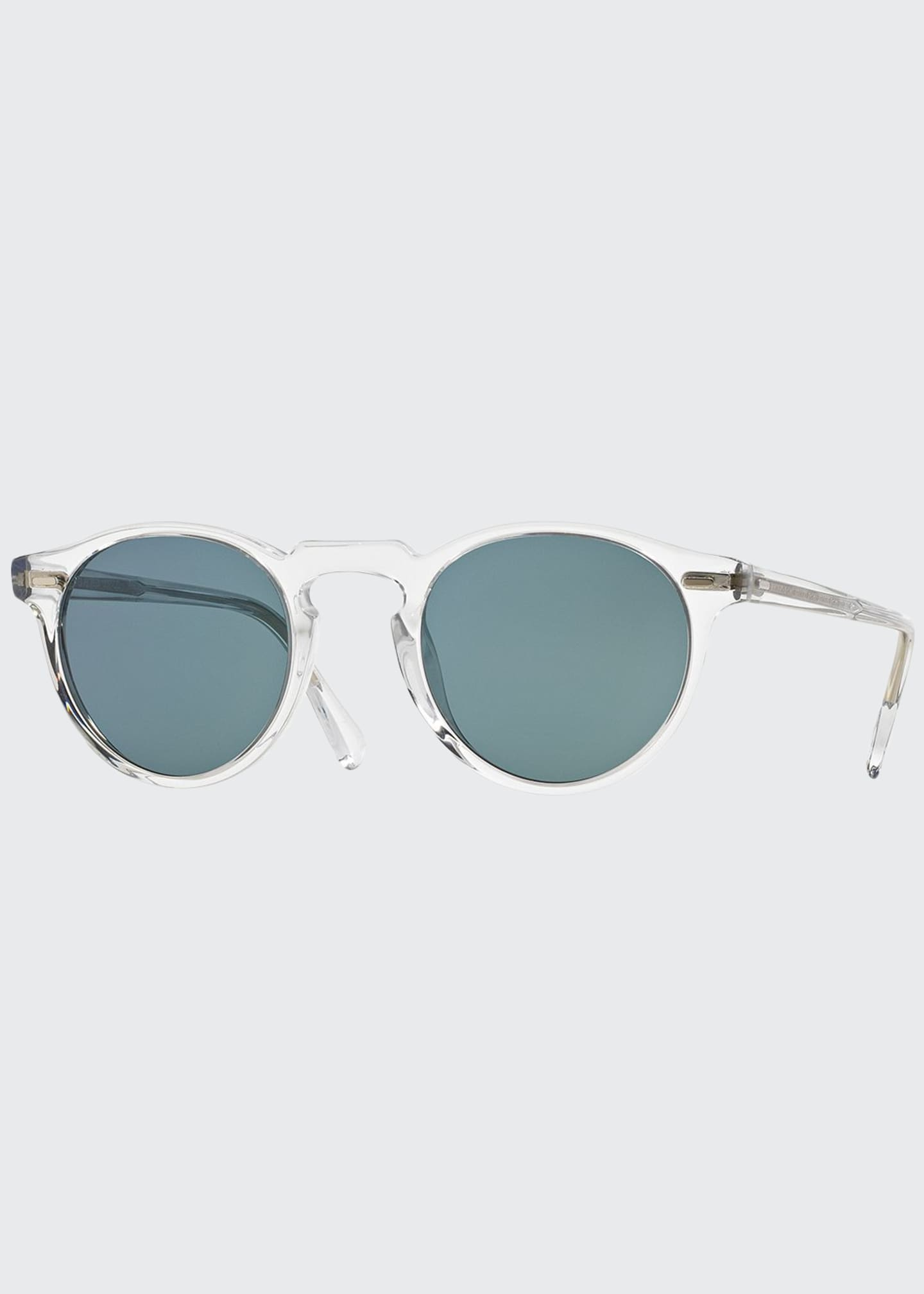 Image 1 of 2: Men's Gregory Peck 47 Round Sunglasses