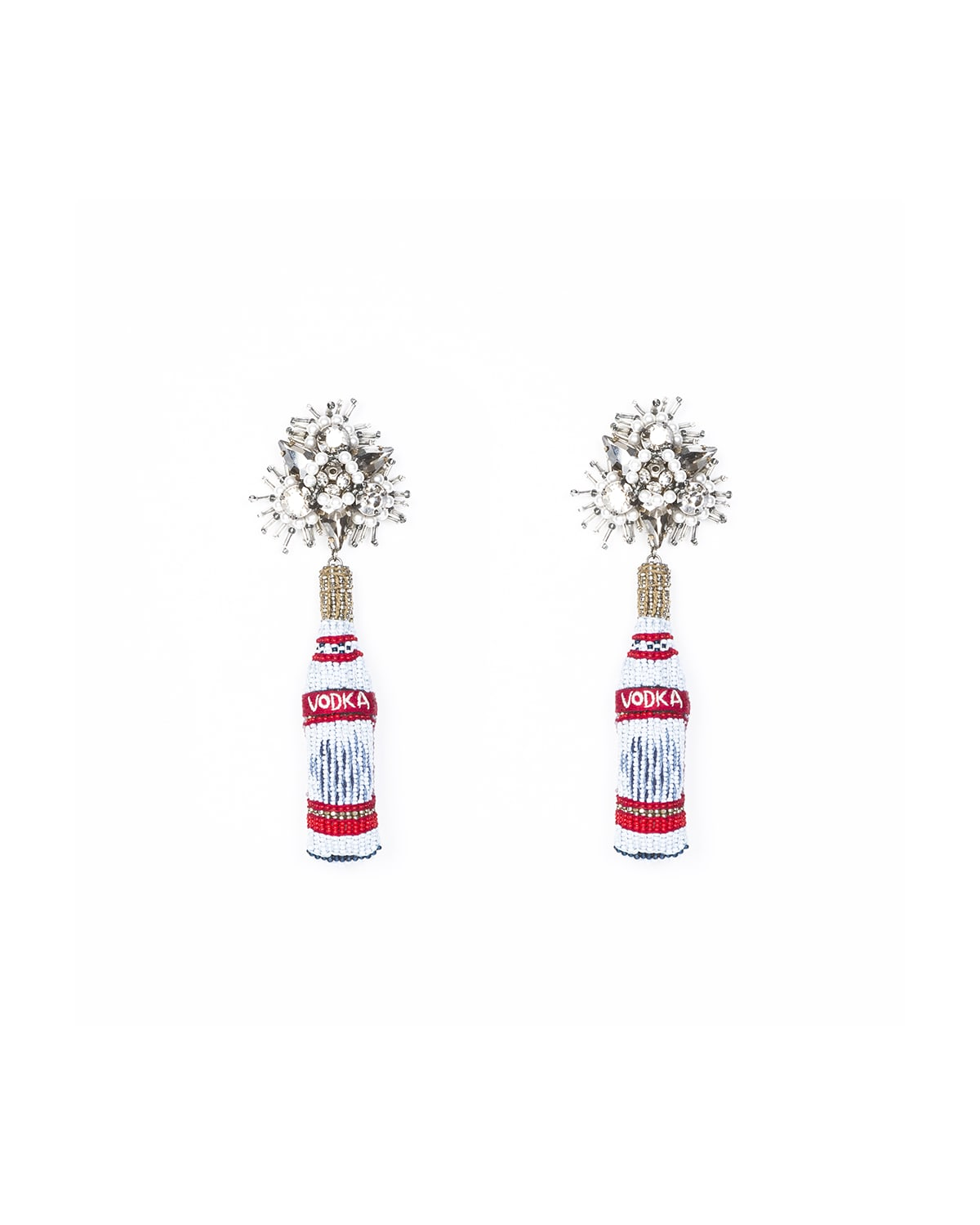Mignonne Gavigan VODKA BEADED DROP EARRINGS