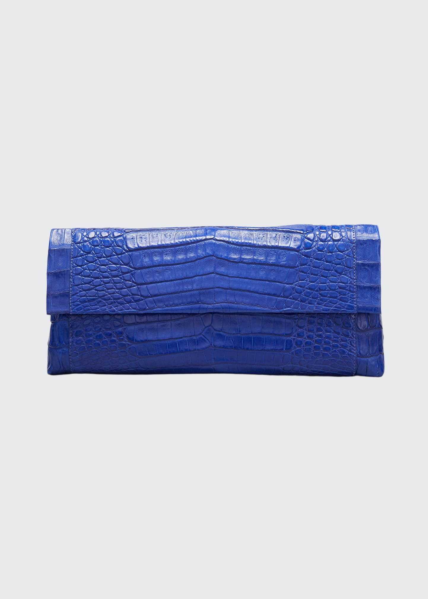 Nancy Gonzalez Clutches GOTHAM CROCODILE CLUTCH BAG
