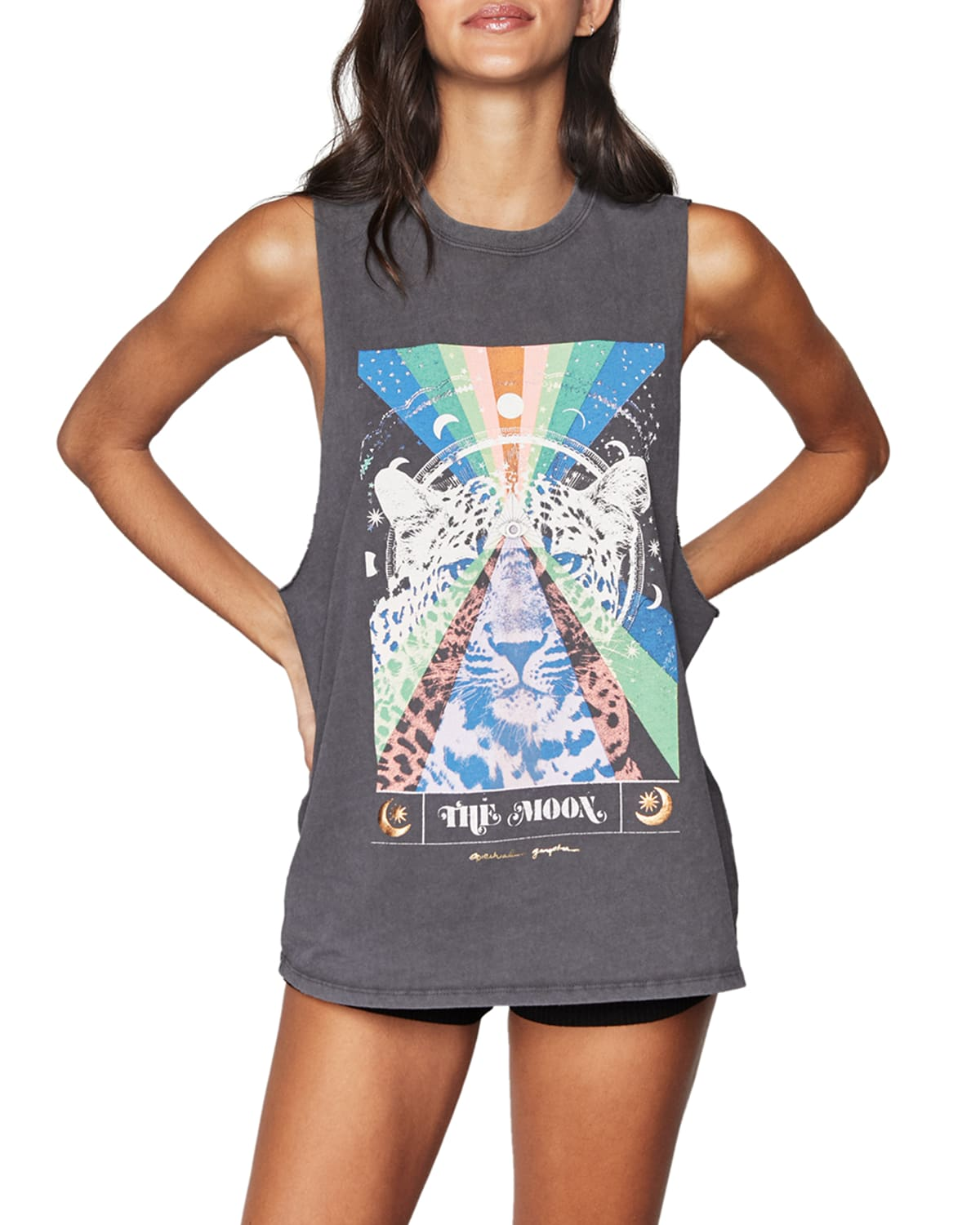 Spiritual Gangster THE MOON CUT OFF GRAPHIC BAND TANK