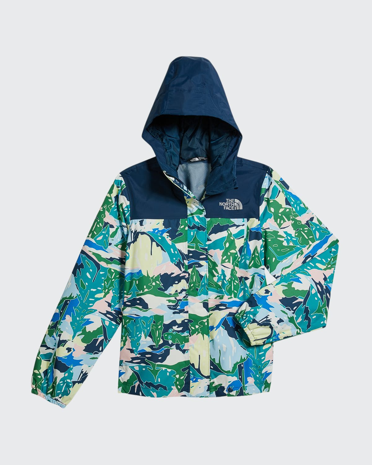 The North Face GIRL'S RESOLVE REFLECTIVE PRINTED JACKET