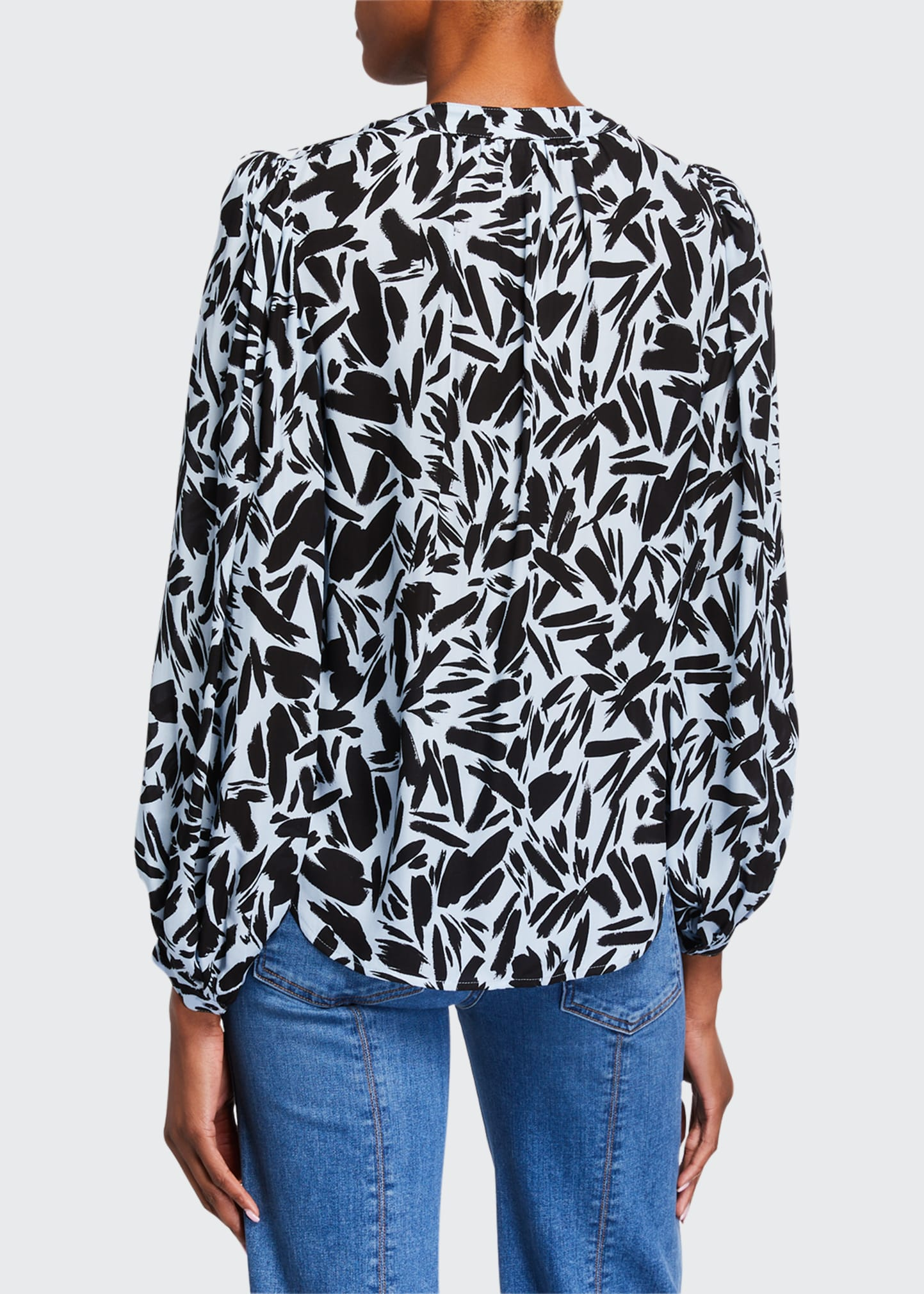 Ashlynn Printed Long-Sleeve Blouse