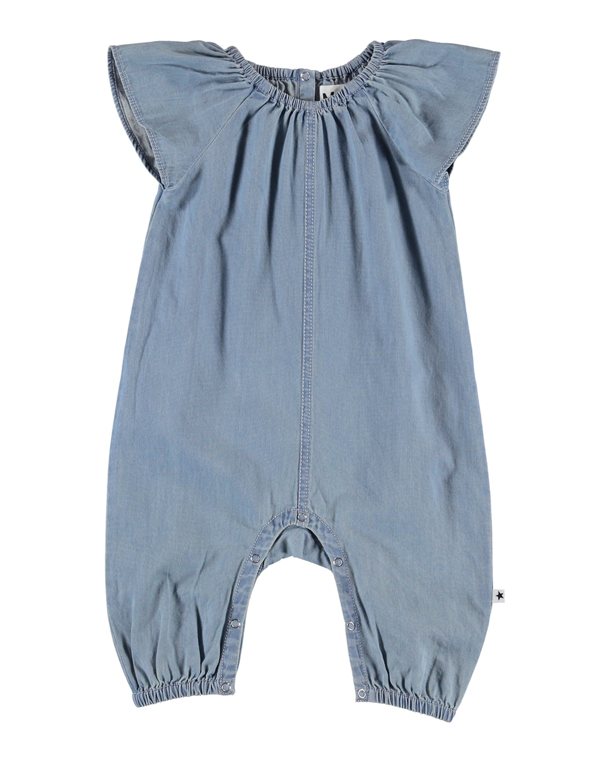 Molo FLORINA CHAMBRAY DENIM ROMPER