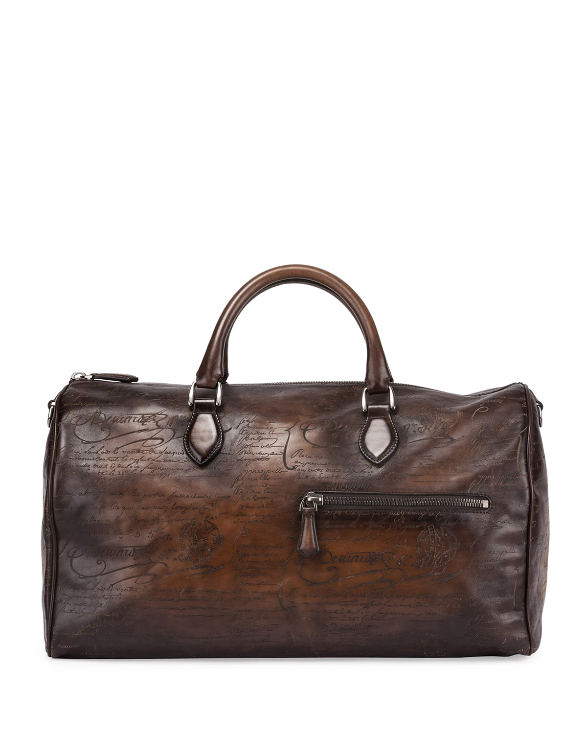 Jour-Off Scritto Large Leather Duffel Bag