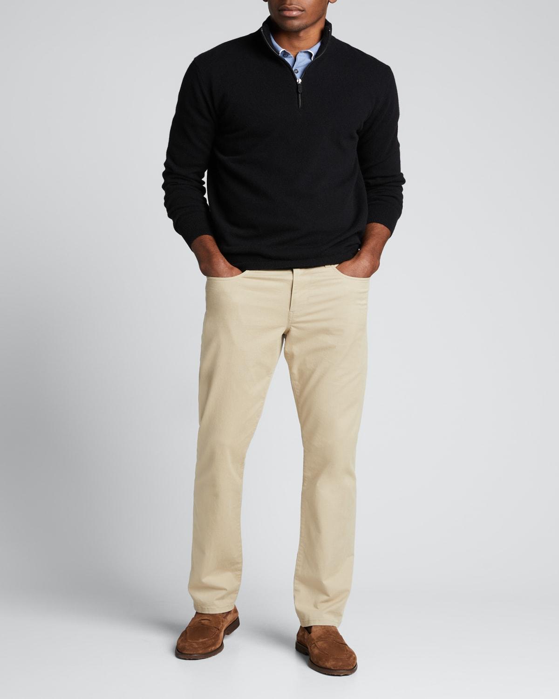 Men's Solid Cashmere Quarter-Zip Sweater