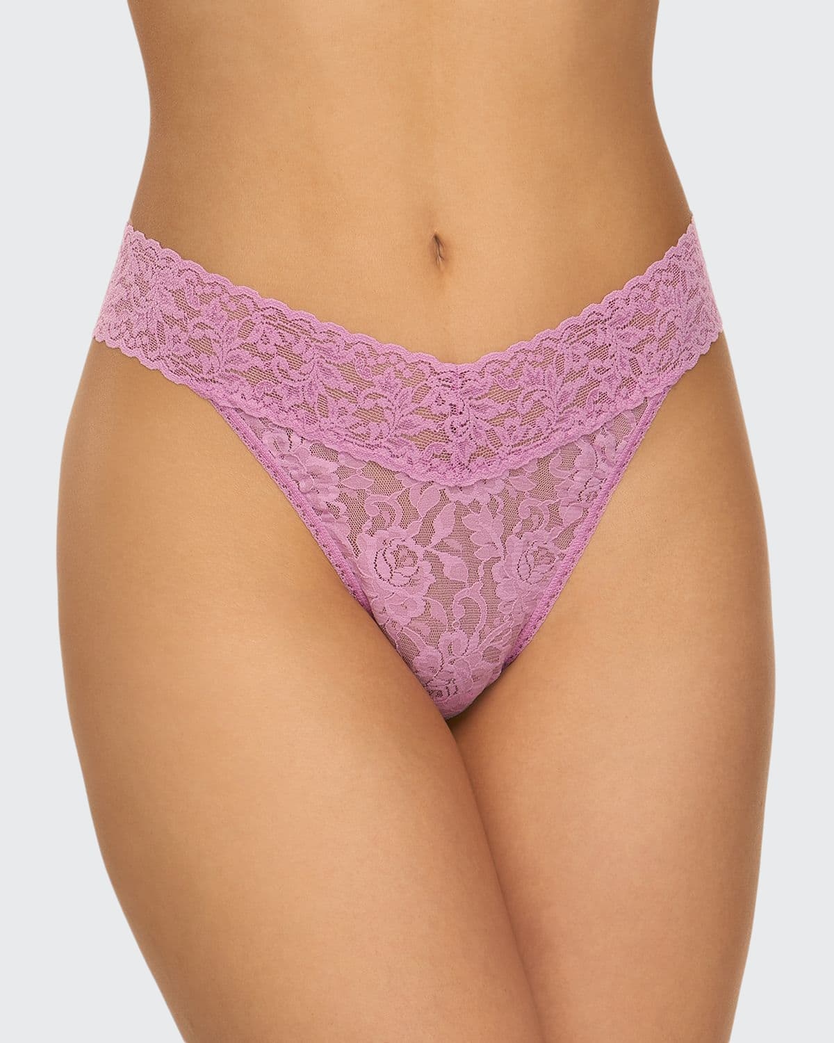 Stretch Lace Traditional-Rise Thong