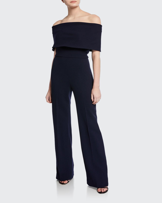 Off-the-Shoulder Crepe Jumpsuit