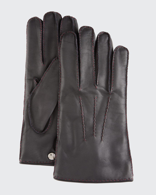 Men's Spanish Entrefino Leather Gloves