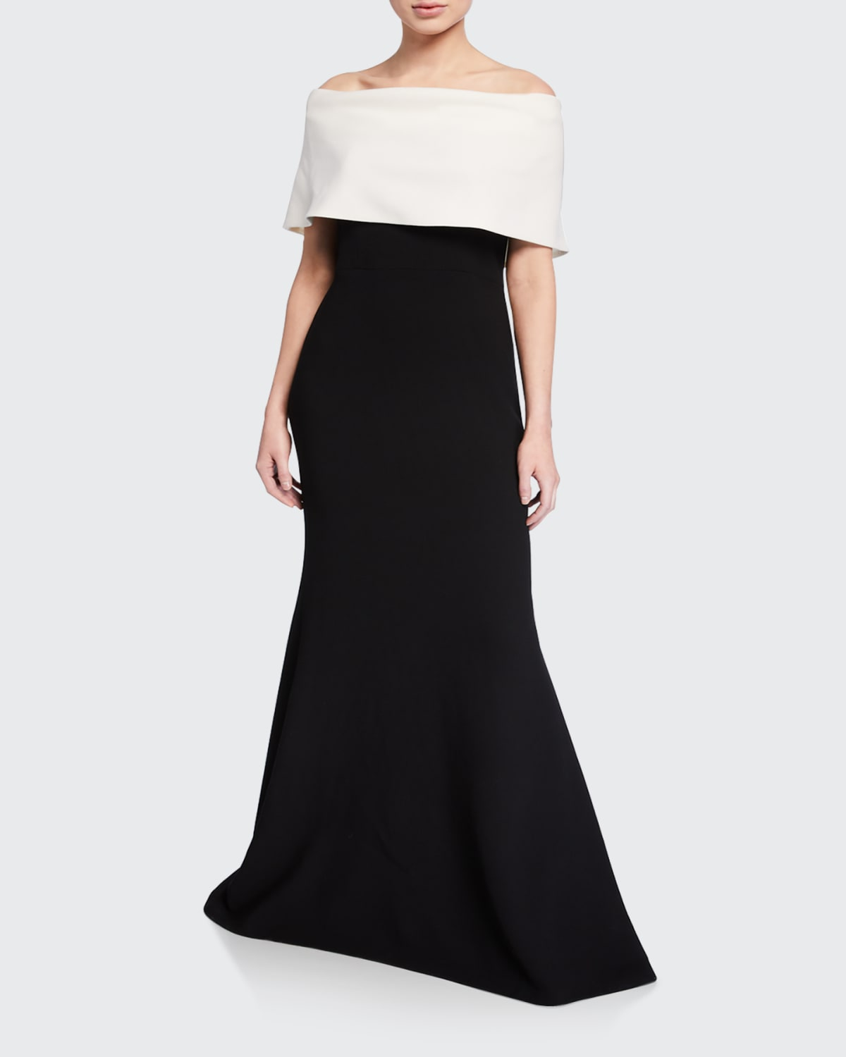 Off-the-Shoulder Two-Tone Gown