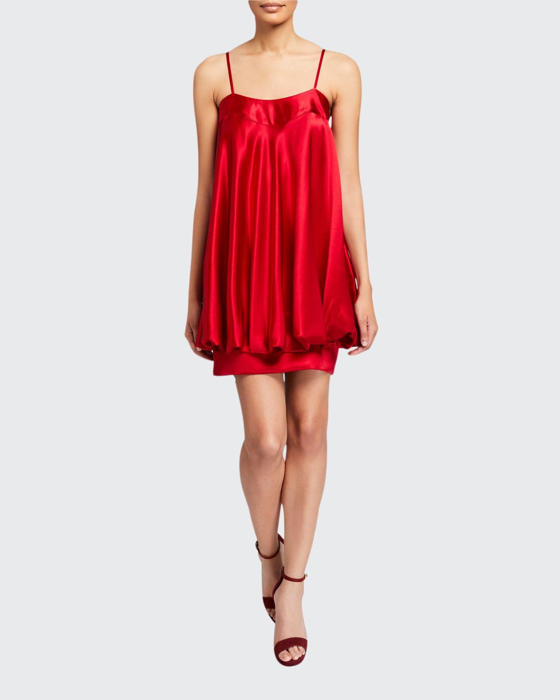 Satin Bow-Back Short Bubble Dress