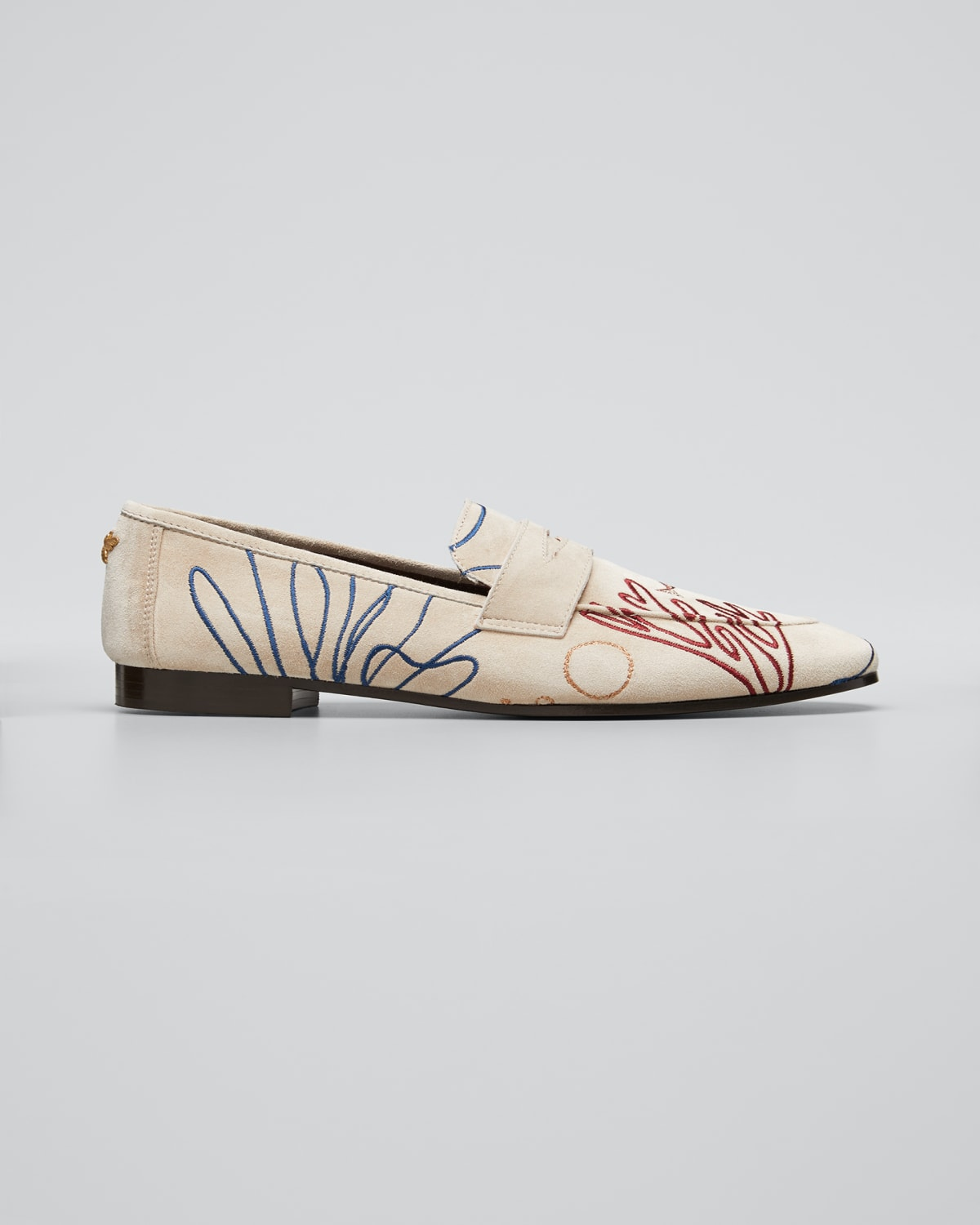 Flaneur Coral Reef Suede Loafers
