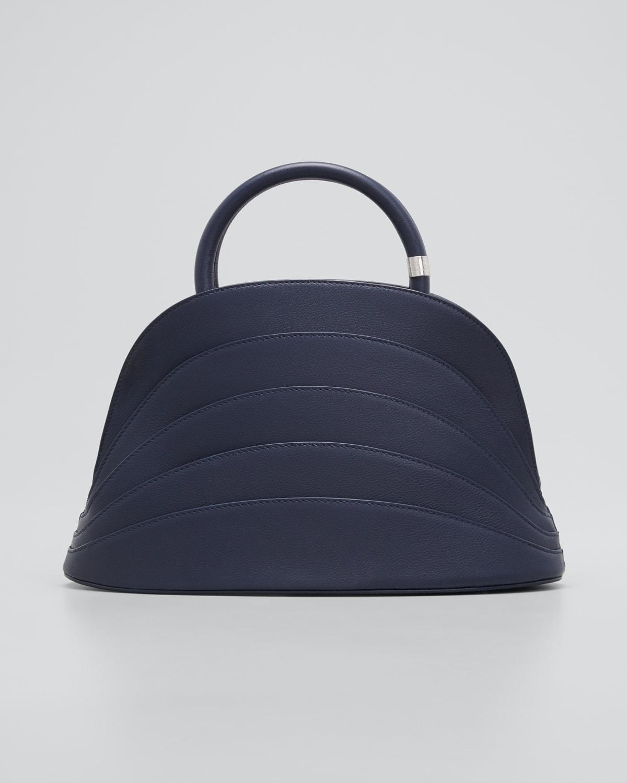 Millefoglie J Leather Top-Handle Bag