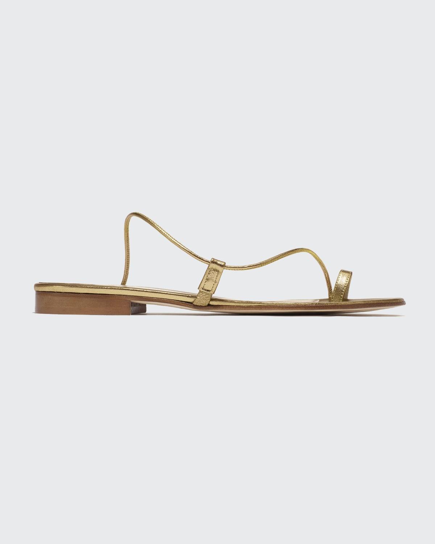 Susan Toe-Ring Leather Slide Sandals