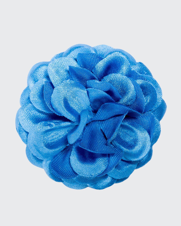 Men's Large Poplin Lapel Flower
