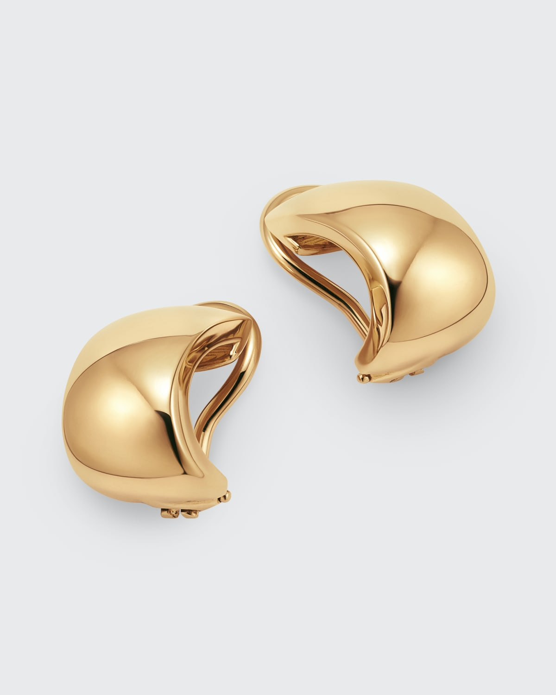 18k Gold Huggie Hoop Earrings