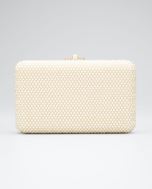 Slim Slide Pearly Evening Clutch Bag