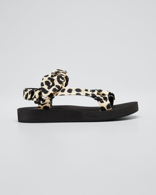 Maisie Leopard-Print Sport Strap Sandal