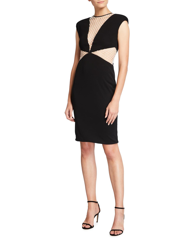 Alexis II Deep V Cocktail Dress