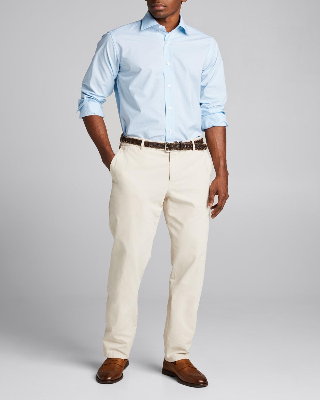 Men's Mini-Check Dress Shirt
