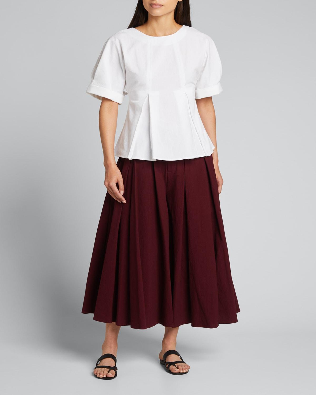 Cordella Pleated Culotte Pants
