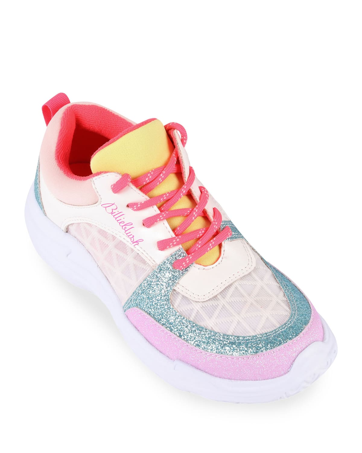 Girl's Multicolored Chunky Sole Lace-Up Sneakers