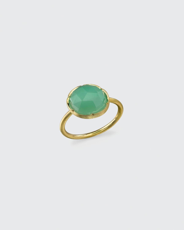 18k Yellow Gold Chrysoprase Ring