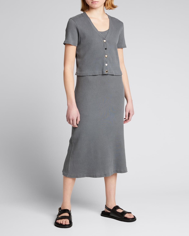 Cropped Short-Sleeve Cardigan
