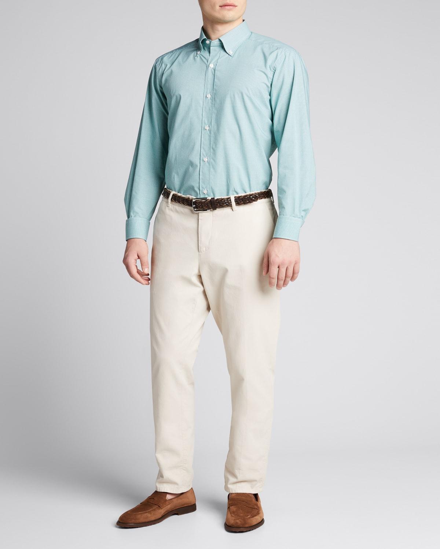 Men's Mini-Check Sport Shirt