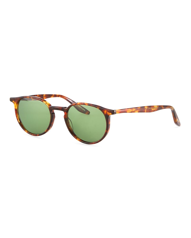 Men's 007 Norton Tortoiseshell Round Sunglasses
