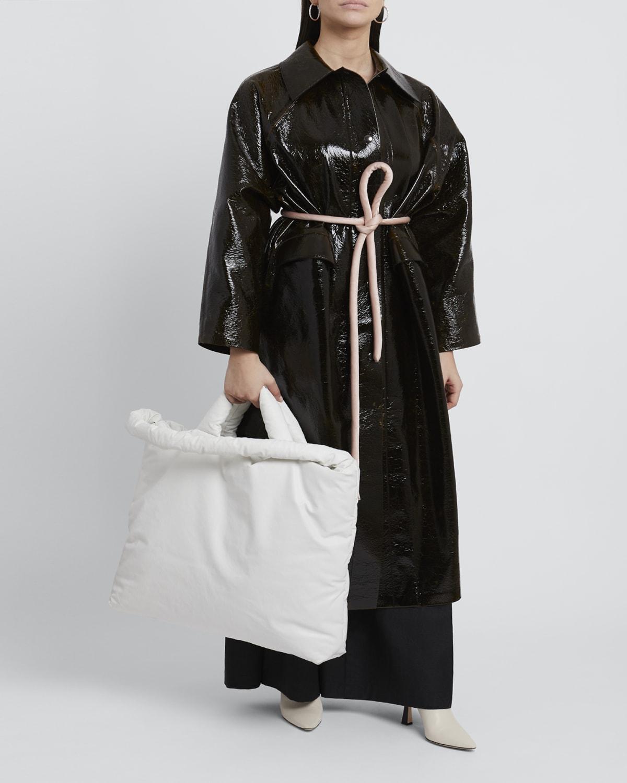Original Long Wool Lacquer Coat in Dark Brown