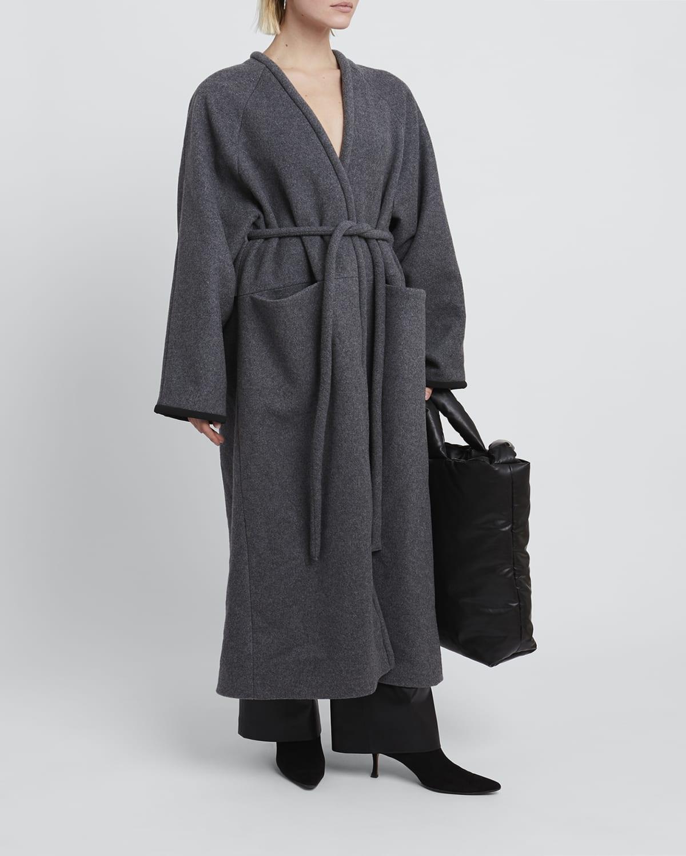 Wool Long Wrap Coat
