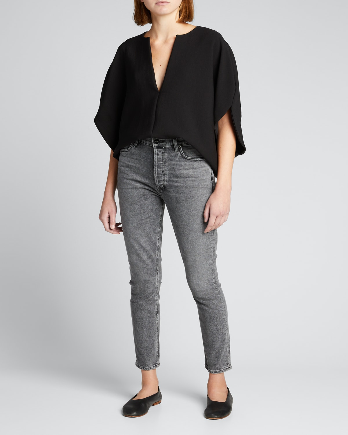 The High-Rise Slim Ankle Jeans