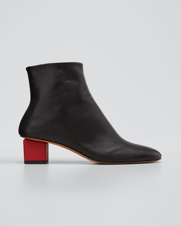 40mm Mildred Cube-Heel Booties