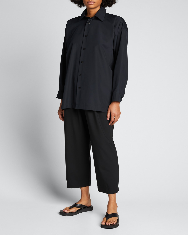 Slim A-Line Collared Button-Down Shirt