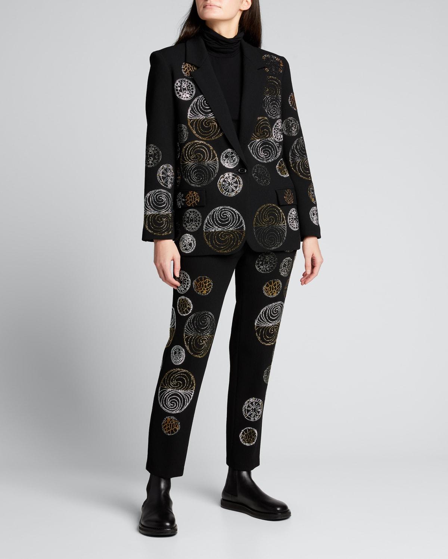 Nouveau Embellished Long Blazer