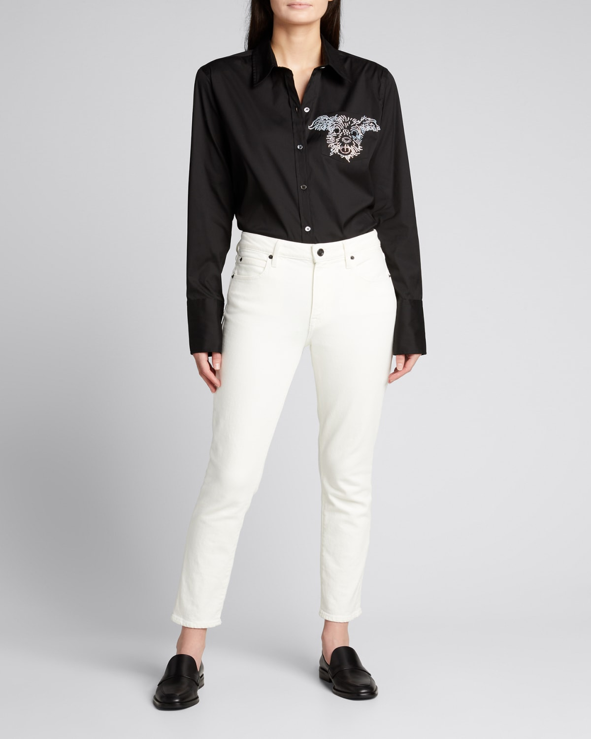 Embellished Classic Collared Shirt