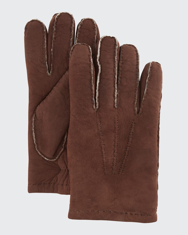 Men's Lamb Suede/Shearling Gloves